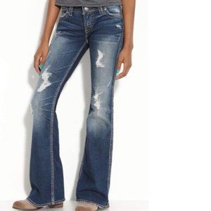 Silver Jeans Frances distressed bootcut jeans 27
